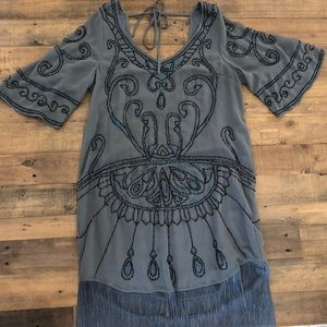 FREE PEOPLE Livin In The Fringe Life Dress